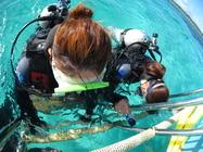 潜る直前には呼吸の練習!